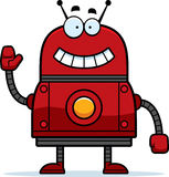 Waving Red Robot Stock Image