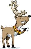 Waving Reindeer Stock Image