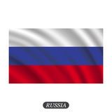 Waving Russia flag on a white background. Vector illustration. Waving  Russia flag on a white background. Vector illustration Stock Photo
