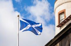 Waving Scottish flag Royalty Free Stock Image