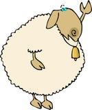Waving Sheep. This illustration depicts a sheep waving Stock Photos