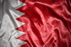 Shining bahrain flag Royalty Free Stock Images
