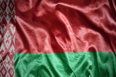 Shining belorussian flag. Waving and shining belorussian flag Royalty Free Stock Photos