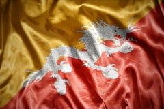 Shining bhutan flag Royalty Free Stock Image