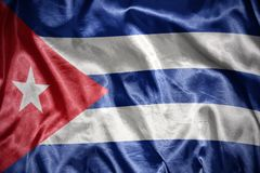 Shining cuban flag. Waving and shining cuban flag Royalty Free Stock Photos