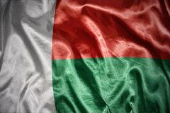 Shining madagascar flag. Waving and shining madagascar flag Royalty Free Stock Photography