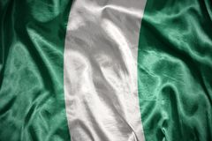 shining nigerian flag Royalty Free Stock Images