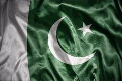 Shining pakistani flag. Waving and shining pakistani flag Royalty Free Stock Photos