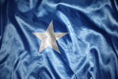 Shining somalia flag. Waving and shining somalia flag stock images
