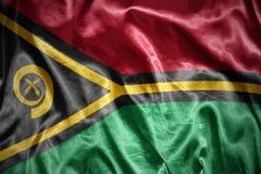 Shining vanuatu flag Royalty Free Stock Photography