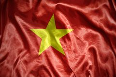 Shining vietnamese flag Stock Photography