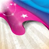 Waving silk with stars as elements background Royalty Free Stock Photography