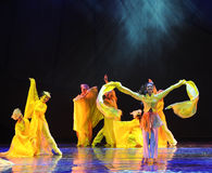 Waving sleeves-The dance drama The legend of the Condor Heroes Stock Photo