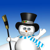 Waving Snowman Royalty Free Stock Image