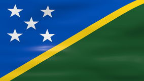 Waving Solomon Islands Flag, ready for seamless loop Royalty Free Stock Photos