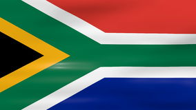 Waving South Africa Flag, ready for seamless loop vector illustration