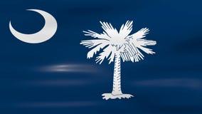 Waving South Carolina State Flag, ready for seamless loop royalty free illustration