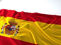 Waving spain Flag. 3d render iustration of a Waving spain Flag royalty free stock images
