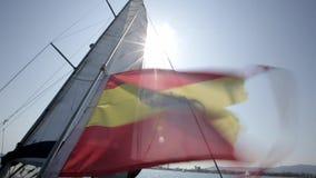 Waving Spanish Flag stock footage