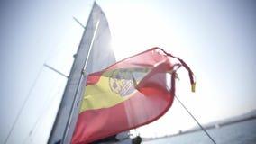 Waving Spanish Flag stock video footage