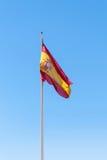 Waving spanish flag Stock Photo