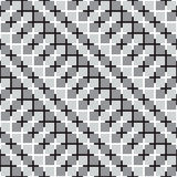 Waving Squares, Black and White Optical Illusion Vector Seamless Royalty Free Stock Photo