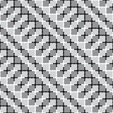 Waving Squares, Black and White Optical Illusion Vector Seamless stock illustration