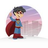 Waving Super Boy Stock Image