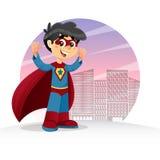 Waving Super Boy Royalty Free Stock Images
