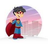 Waving Super Boy Stock Photography