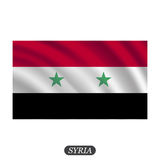 Waving Syria flag on a white background. Vector illustration Royalty Free Stock Photo