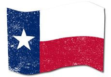 Waving Texas State Grunge Flag. The flag of the USA state of TEXAS Stock Photography