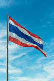 Waving Thai flag Stock Images