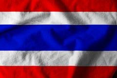 Waving Thai flag. Waving nation flag of Thailand Royalty Free Stock Photos