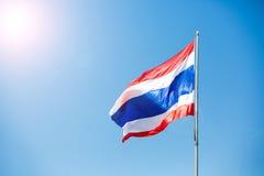 Waving Thai flag of Thailand Royalty Free Stock Image