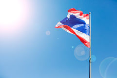 Waving Thai flag of Thailand Royalty Free Stock Images