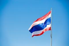 Waving Thai flag of Thailand Stock Photography