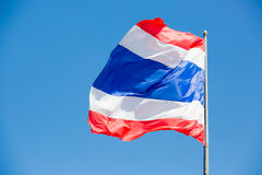 Waving Thai flag of Thailand Stock Photos