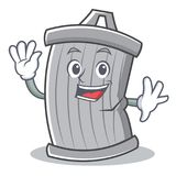 Waving trash character cartoon style Royalty Free Stock Photos