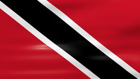 Waving Trinidad and Tobago Flag, ready for seamless loop.  stock video footage