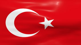 Waving Turkey Flag. Turkey Flag waving in the wind stock video