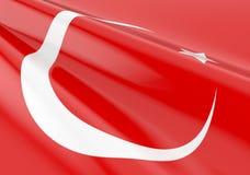 Waving turkish flag Royalty Free Stock Photography