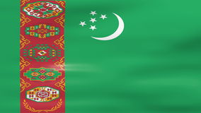 Waving Turkmenistan Flag, ready for seamless loop stock video