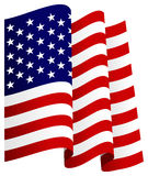 Waving U.S. Flag Royalty Free Stock Photography