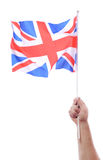 Waving uk flag Royalty Free Stock Photo