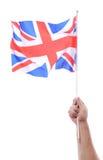 Waving uk flag Royalty Free Stock Photo