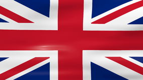 Waving UK Flag, ready for seamless loop.  stock video footage