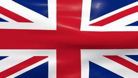Waving UK Flag. UK Flag waving in the wind stock video footage