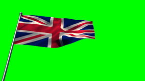 Union flag against green screen. Waving union flag against green screen stock footage