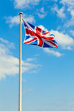 Waving Union Jack Royalty Free Stock Photography